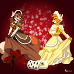 Christmas Vixens - Skelly-Doll