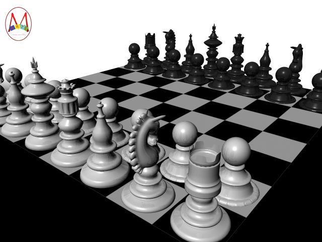 3d Chess Board By Premdeepmann On Deviantart
