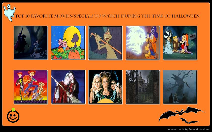 My Top 10 Favorite Halloween Speicals/Movies by J-Cat on DeviantArt
