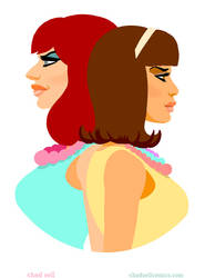 Raven and Jujubee - 60s Fashion Realness by shadcell