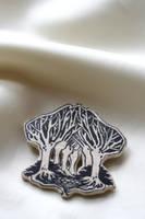 Art Nouveau Tree Brooch by PurpurJewelry
