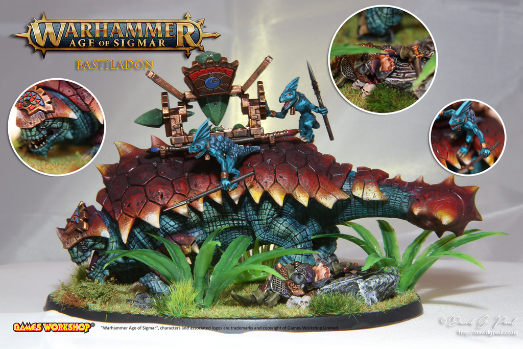 Warhammer Age of Sigmar - Seraphon Bastiladon by jedi58