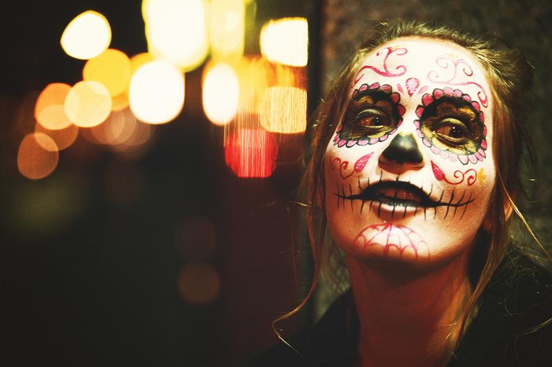 sugar skull makeup wallpaper - photo #27
