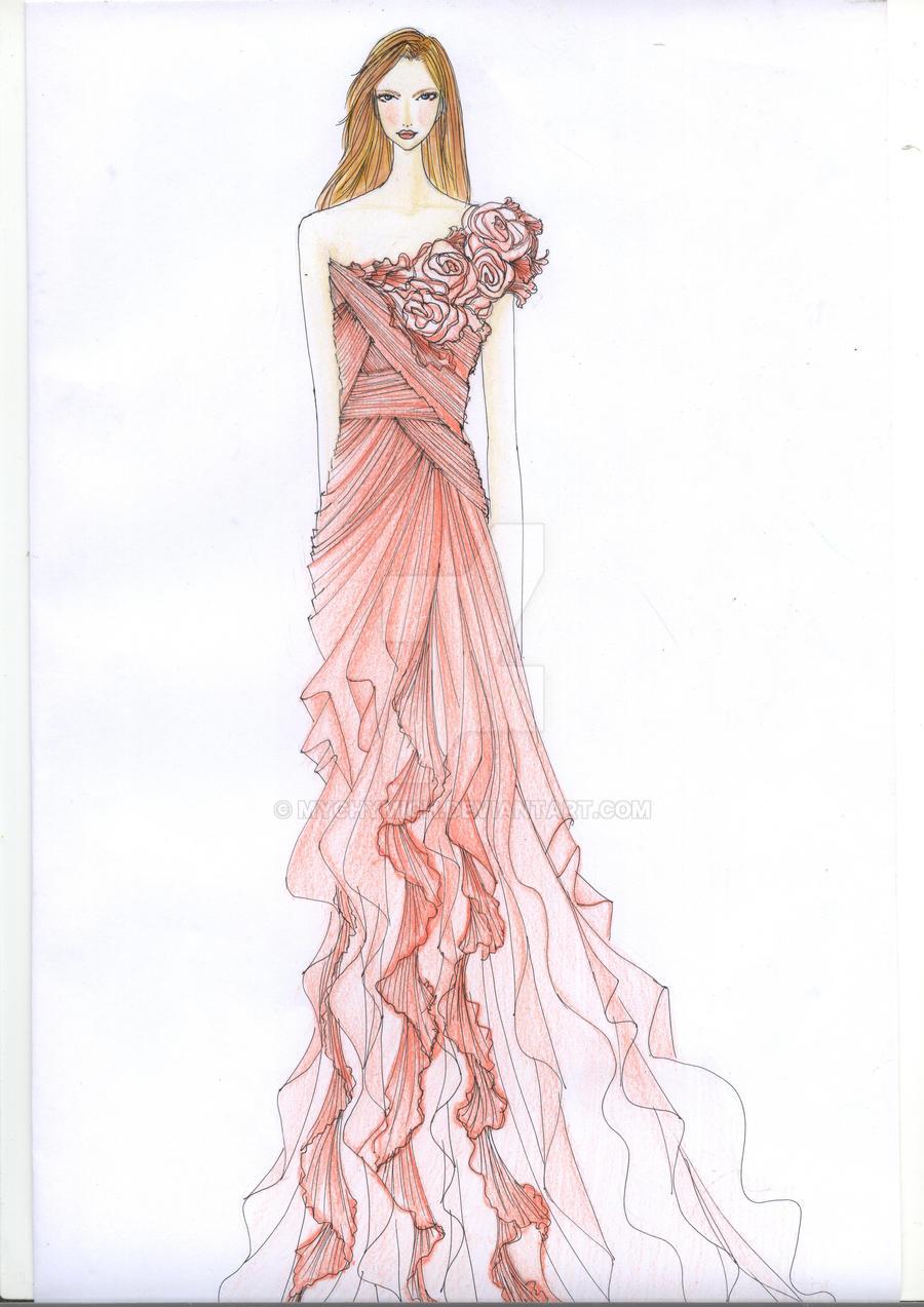 fashion sketch by mychymich on deviantart