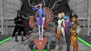 Overwatch heroines mindcontrolled