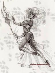 Drow Battle Priest by shidonii