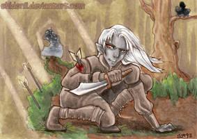 ACEO Ferro Drow Rogue by shidonii
