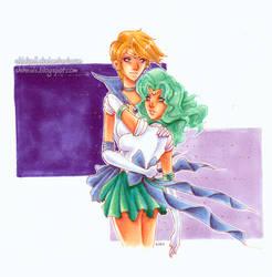 Haruka and Michiru Commission by shidonii