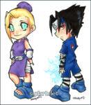 chibi Sasuke and Ino