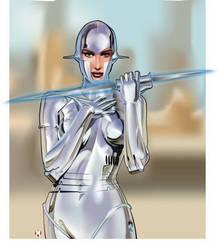 Vector Robotgirl by AdrianTodd