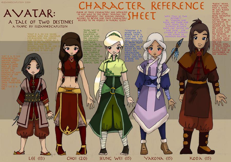 Avatar OC reference sheet by suzannedcapleton on DeviantArt