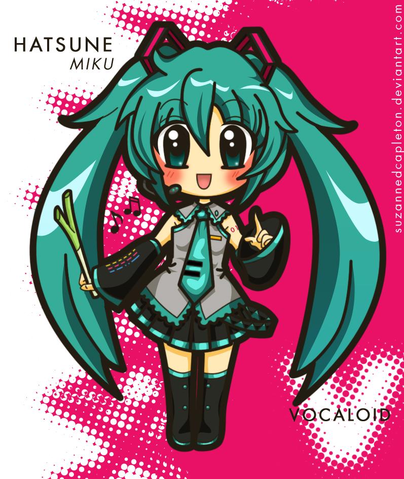 Vocaloid - Miku Hatsune by suzannedcapleton