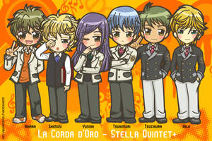 Chibi - Stella Quintet + by suzannedcapleton