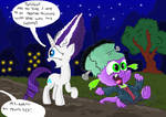 Nightmare Night with Spike by seriousdog