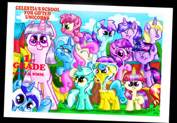 Twilight's school picture by seriousdog