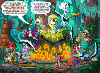 Doctor Whooves and his raptor problem by seriousdog