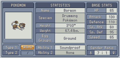 Fakedex Stats: Boreon by Wooded-Wolf