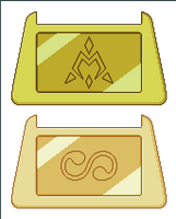 Digimon Crests - Golden by Wooded-Wolf