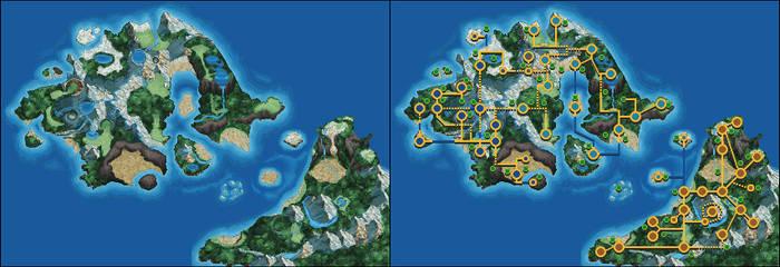 Nameless Pokemon Regions Map