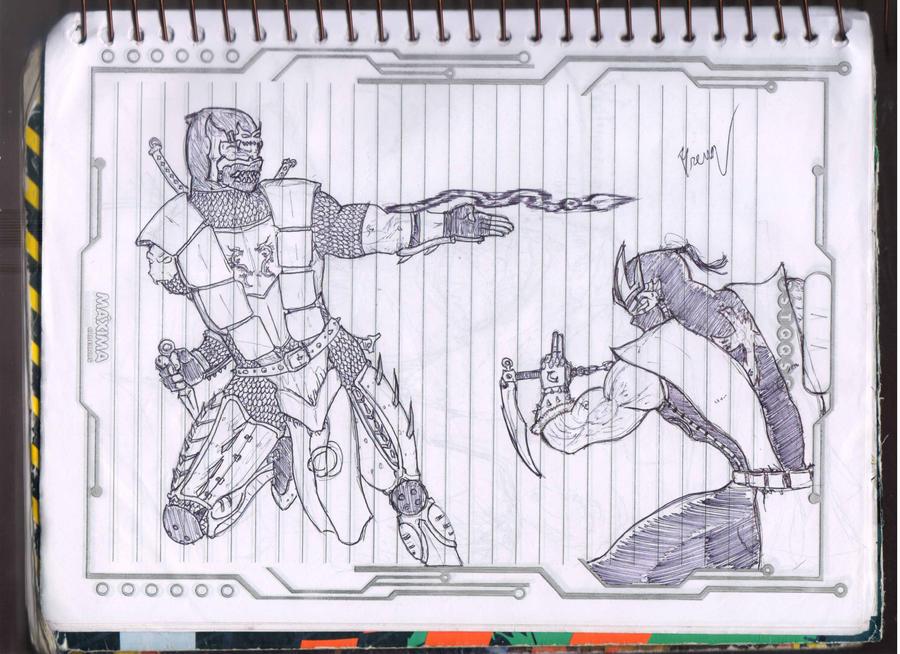 Line Art Zero : Scorpion vs sub zero mk by sogeking usopp on deviantart