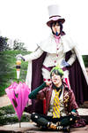 Amaimon and Mephisto Cosplay, in pose
