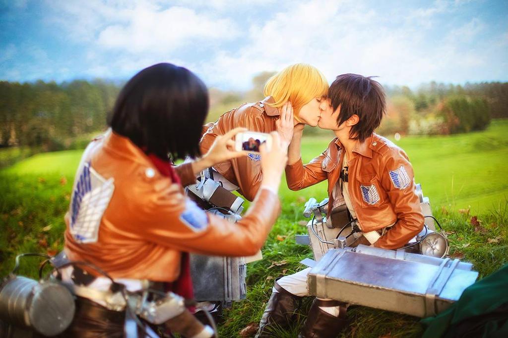 Eren, Armin, Mikasa Cosplay - Yaoi'd! by hakucosplay