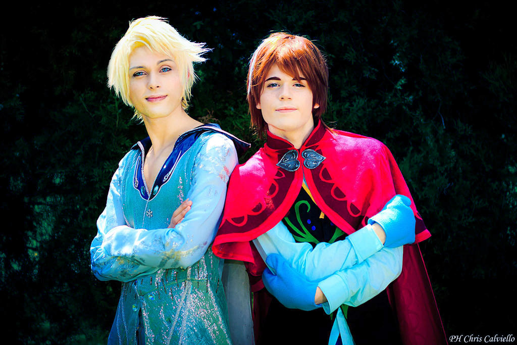 Anna and Elsa Genderswap Cosplay, Frozen by hakucosplay