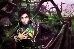 Maleficent Genderswap Cosplay, Sakimichan Design by hakucosplay