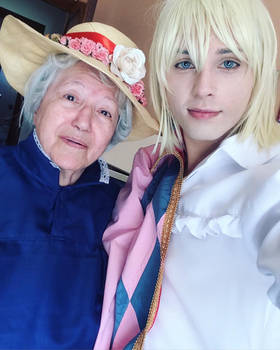 Howl's Moving Castle... Selfie with sophie!