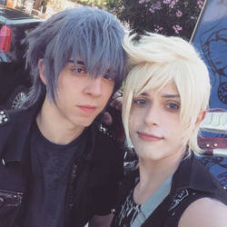Prompto and Noctis Cosplay! by hakucosplay