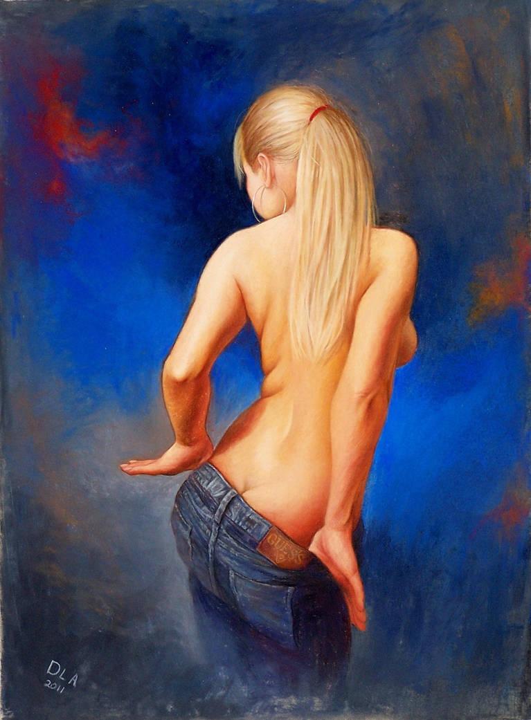 Blue Jean Tease, 1 by dlapastel