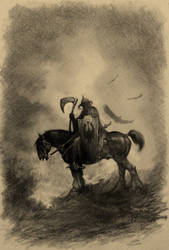 Tribute to the master: Frazetta's Death Dealer by dlapastel