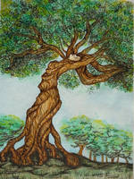 Treewoman or dryad by faefall