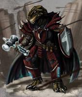 Dragonborn Paladin Kosh by CharReed