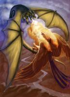 Dragon Phoenix Battle by CharReed