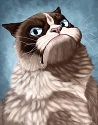 Grumpy Cat Caricature by CharReed