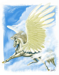 Traditional Pegasus by CharReed