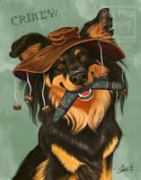 Kiwi Dog Portrait by CharReed