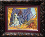 The Golden Troupe Framed Watercolour by CharReed