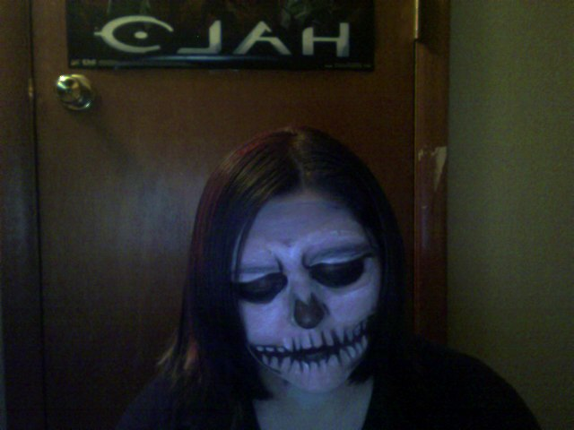 Skull makeup (angry) by Sexy-Slender-Dragon