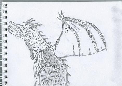 Sad Tribal Dragon by Sexy-Slender-Dragon