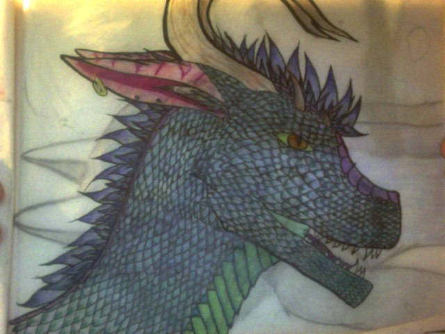 Detailed works: Dragon by Sexy-Slender-Dragon