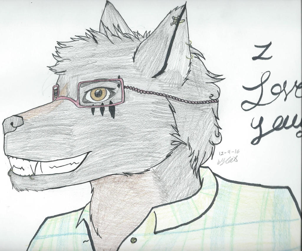 Wolf fursona by Sexy-Slender-Dragon