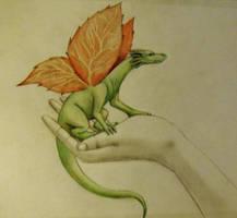 The leaf winged dragon
