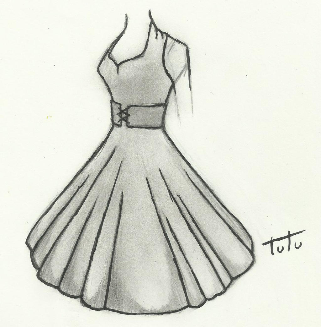 50 S Dress Drawing By Tutu2324 On Deviantart