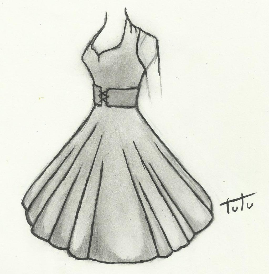 50's Dress Drawing by tutu2324 on DeviantArt