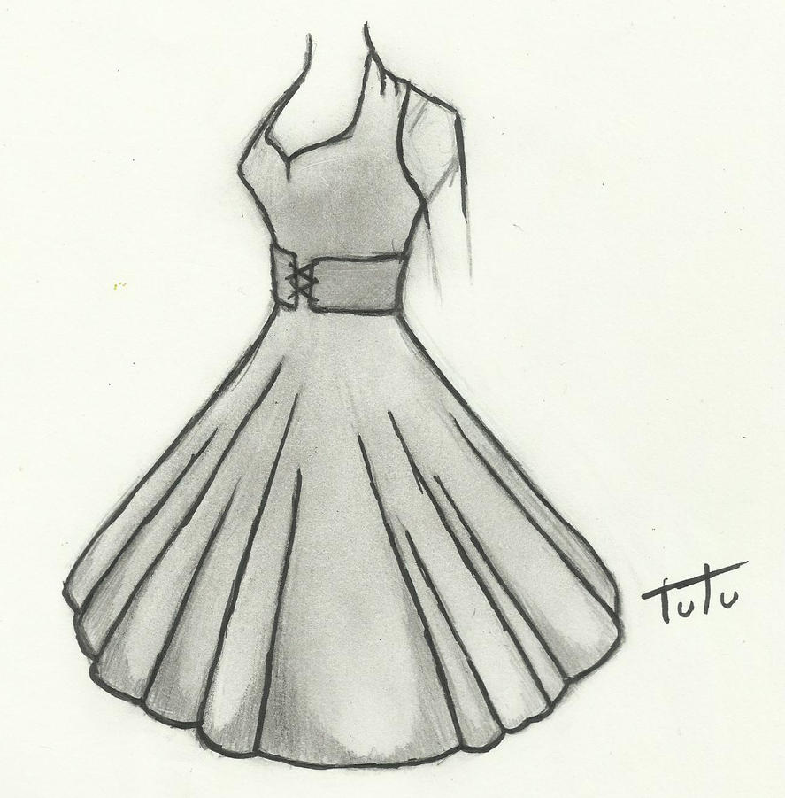 50's Dress Drawing by tutu2324 on DeviantArt