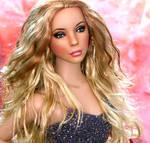 Doll repainted as Mariah Carey by noeling