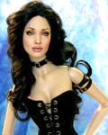 Doll repainted as Angelina by noeling