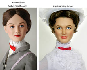 Doll Repaint as Mary Poppins